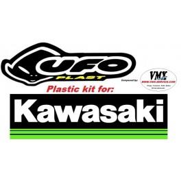 Plastic kit KX125 1991 met USD nummerplaat voor
