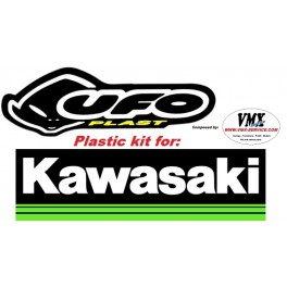 Plastic kit KX125 1991 with USD front numberplate