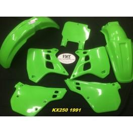 Plastic kit KX250 1991 met USD nummerplaat voor