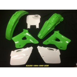 Plastic kit KX250 1994 - 1995 with USD front numberplate