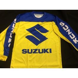 Suzuki shirt blue-yellow